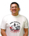 White cotton t-shirt featuring the 2013 Field Day logo on the front chest and ARRL diamond on back.