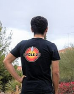 Black t-shirt featuring the ARRL Diamond and Cycle 25 on front and the colorful Cycle 25 logo on back.