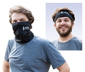 Bandana Head and Neck Wrap Black