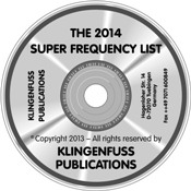2014 Super Frequency List CD-ROM (Klingenfuss)