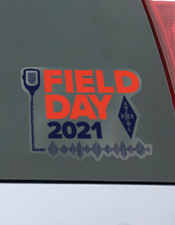 Field Day Front Adhesive Window Cling