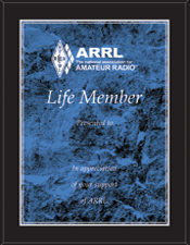 ARRL Life Membership Plaque