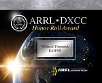 DXCC Honor Roll Plaque