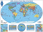 ARRL Amateur Radio Map of the World (Robinson)