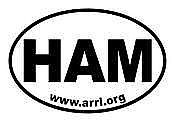 HAM Oval Sticker