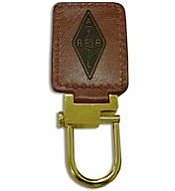 Leather Rectangular Key Fob (Barker Specialty)