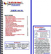 Yaesu VX-7R Mini-Manual and Card Combo
