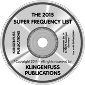 2015 Super Frequency List CD-ROM (Klingenfuss)