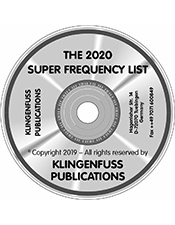 2020 Super Frequency List CD-ROM (Klingenfuss)