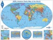 ARRL Amateur Radio Map of the World (Robinson)