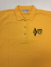 ARRL Centennial Polo Shirt Gold (Ladies)