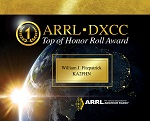 DXCC Top of Honor Roll Plaque