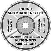 2019 Super Frequency List CD-ROM (Klingenfuss)