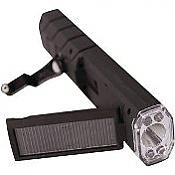 Solar Crank Flashlight