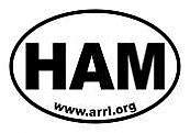 Ham Oval Stickers (set of 25)
