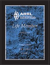 ARRL Life Membership Plaque