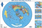 ARRL Amateur Radio Map of the World (Azimuthal)